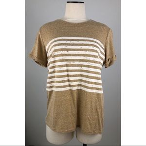 Sweet Claire Mustard with White Stripes Tee